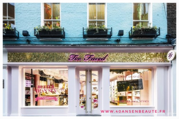 40 ANS EN BEAUTE BOUTIQUE TOO FACED LONDRES CHOCOLATE GOLD