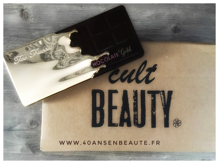 40 ANS EN BEAUTE CULT BEAUTY TOO FACED CHOCOLATE GOLD PALETTE