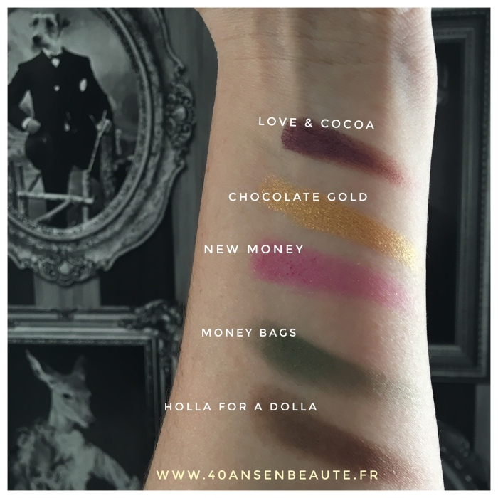 40 ANS EN BEAUTE SWATCHS PALETTE CHOCOLATE GOLD TOO FACED BLOG FRANCAIS.JPG