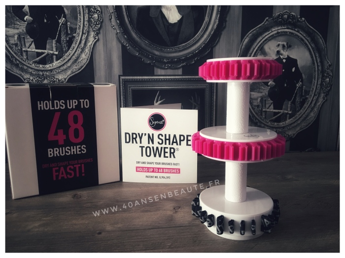 SIGMA BEAUTY-DRY'N-SHAPE-TOWER-PINCEAUX-MAQUILLAGE-ARBRE-TOUR-DE-SECHAGE-AVIS-BLOG-FRANCAIS-40-ANS-EN-BEAUTE