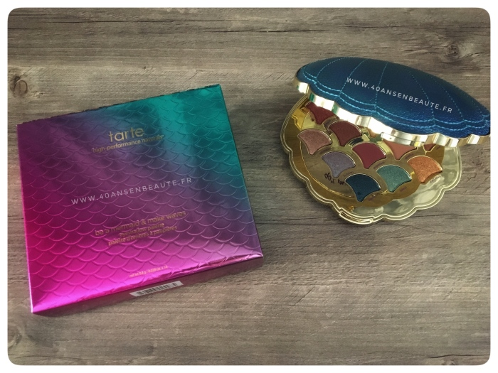 emballage-ecaille-sirene-palette-be-a-mermaid-and-make-waves-tarte-cosmetics-meilleur-blog-beauté