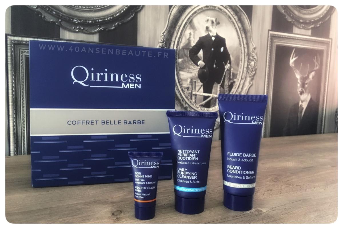 """QIRINESS MEN :  OFFREZ-LUI UN COFFRET """"BELLE BARBE"""" POUR UNE ROUTINE SOIN VISAGE COMPLETE !"""