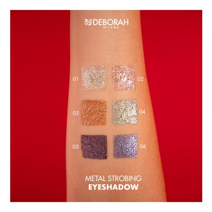 swatch-deborah-milano-eyeshadow-metal-strobing-collection
