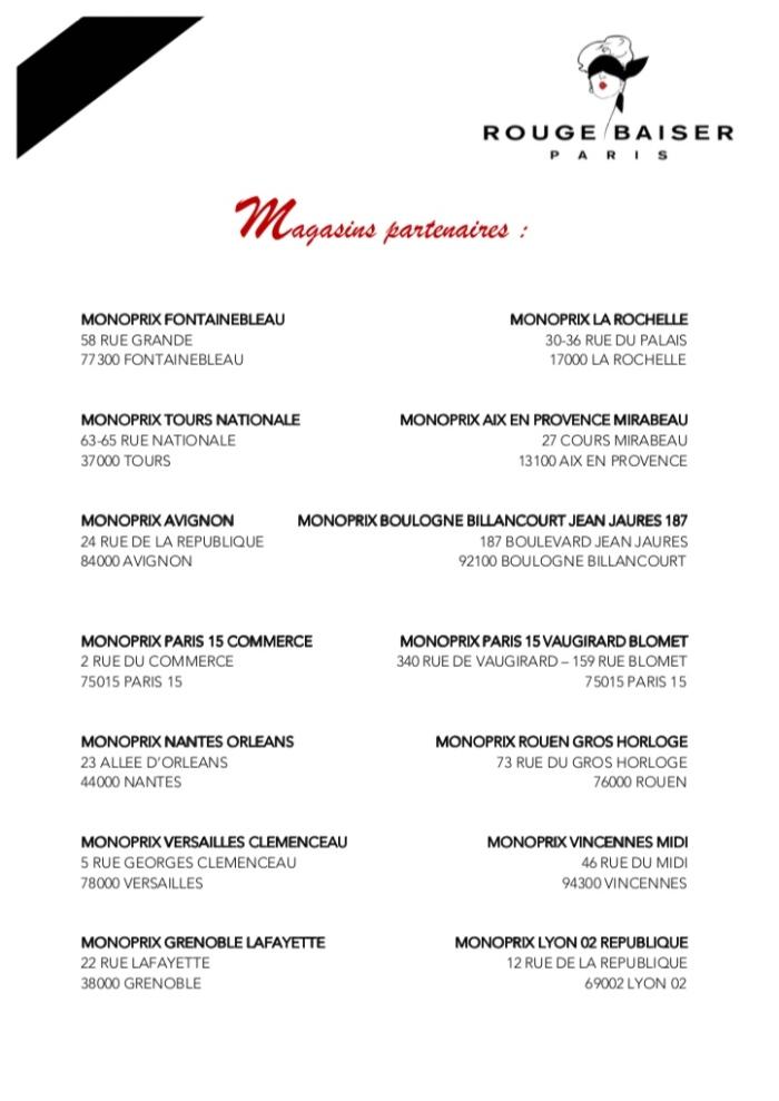 liste monoprix